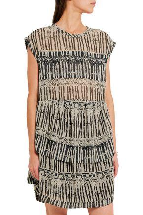 IRO Klotie ruffled printed georgette dress