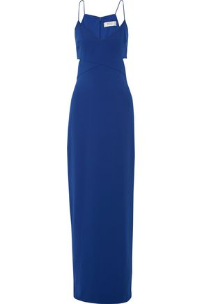 BADGLEY MISCHKA Odessa cutout crepe gown