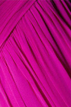 BADGLEY MISCHKA Silk-chiffon gown