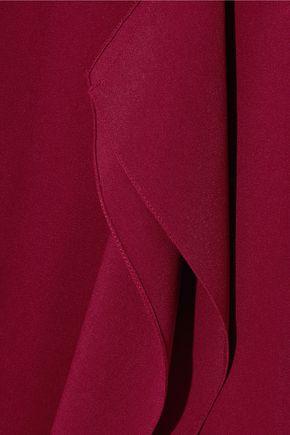ROLAND MOURET Galaham one-shoulder stretch-crepe gown