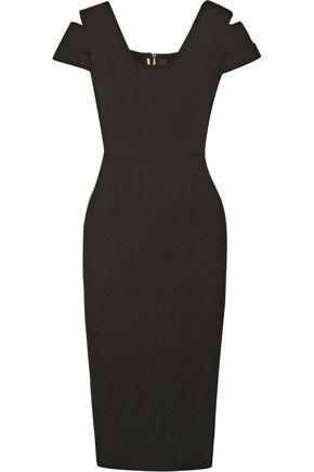 ROLAND MOURET Minetta cutout stretch-crepe dress