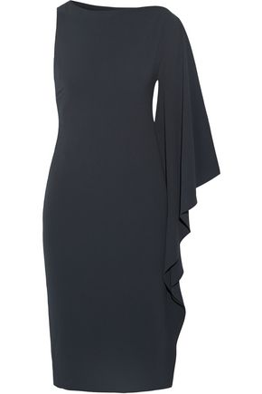 CUSHNIE ET OCHS Bella one-shoulder stretch-crepe dress