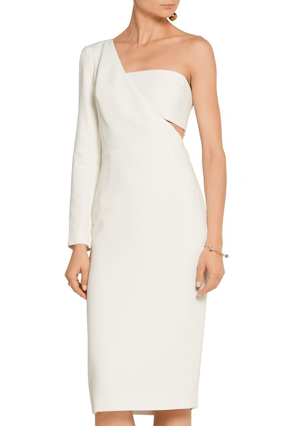 One-shoulder stretch-cady dress | CUSHNIE ET OCHS | Sale up to 70% off |  THE OUTNET