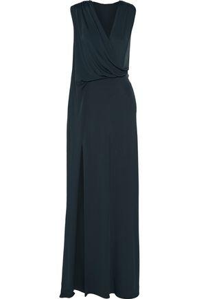 CUSHNIE ET OCHS Asymmetric draped stretch-jersey gown