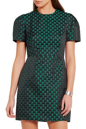 MARY KATRANTZOU Azurite jacquard mini dress