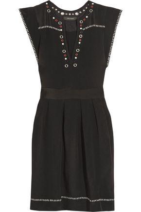 ISABEL MARANT Fergie embellished silk-twill mini dress