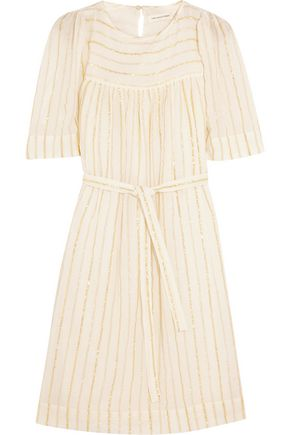 ISABEL MARANT ÉTOILE Samoa metallic-trimmed cotton-blend gauze dress