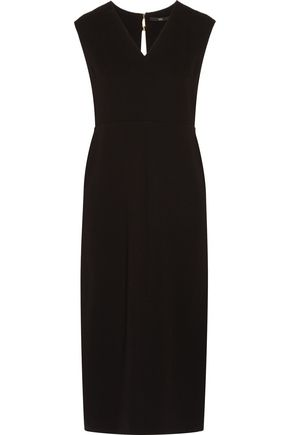 TIBI Draped crepe midi dress