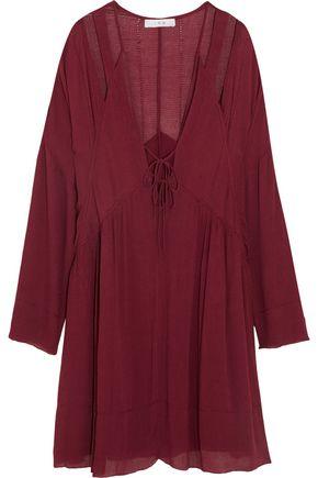 IRO Enya cutout gauze mini dress