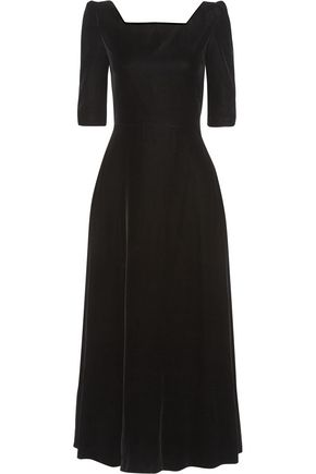 SAINT LAURENT Velvet midi dress