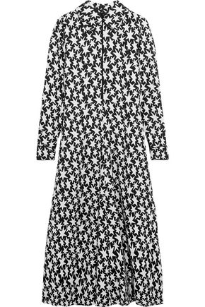 SAINT LAURENT Printed crepe midi dress