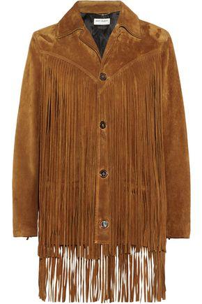 SAINT LAURENT Fringed suede jacket