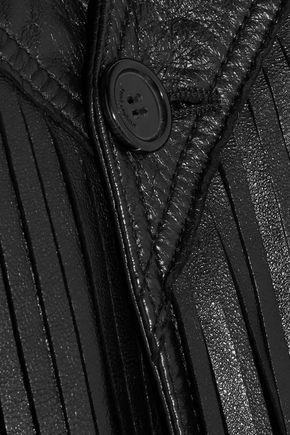 SAINT LAURENT Fringed leather vest