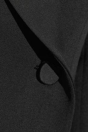 PALLAS Angel satin-trimmed wool-twill tuxedo mini dress