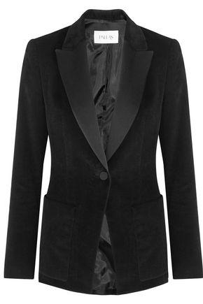 PALLAS Satin-trimmed corduroy blazer