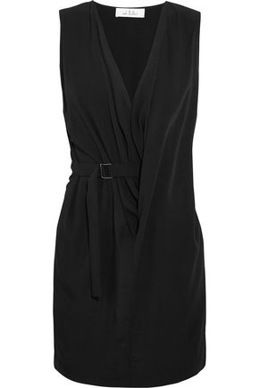 IRO + Anja Rubik Stellie draped woven mini dress