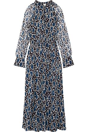 PAUL & JOE Ezanzibar printed silk-chiffon midi dress