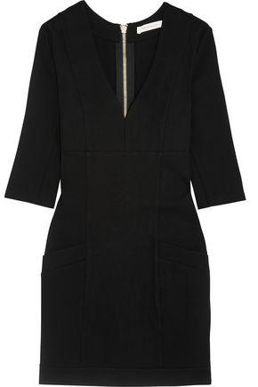 PIERRE BALMAIN Button-embellished stretch-jersey mini dress