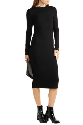 ESTEBAN CORTAZAR Cutout stretch-knit midi dress