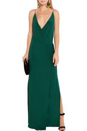 JUAN CARLOS OBANDO Essex silk wrap gown