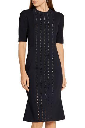 DION LEE Aperture Swarovski crystal-embellished tech-jersey dress