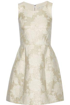 ALICE + OLIVIA Metallic jacquard mini dress