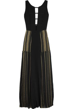ZEUS + DIONE Gaia metallic-trimmed silk maxi dress