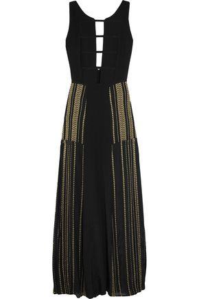 ZEUS + DIONE Gaia metallic-trimmed silk maxi dress