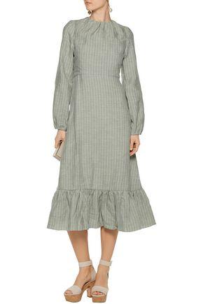 J.W.ANDERSON Ruffled crepe midi dress