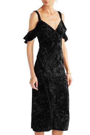 RACHEL ZOE Kinsley off-the-shoulder velvet dress