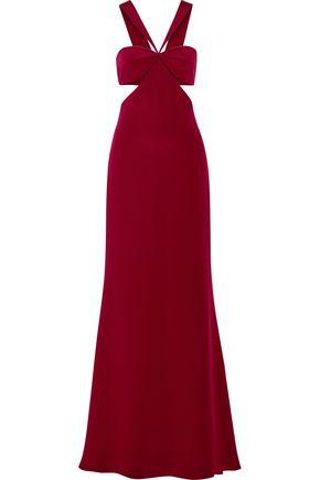 CUSHNIE ET OCHS Eva cutout silk-crepe gown