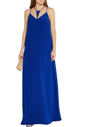 CUSHNIE ET OCHS Cutout silk-crepe maxi dress
