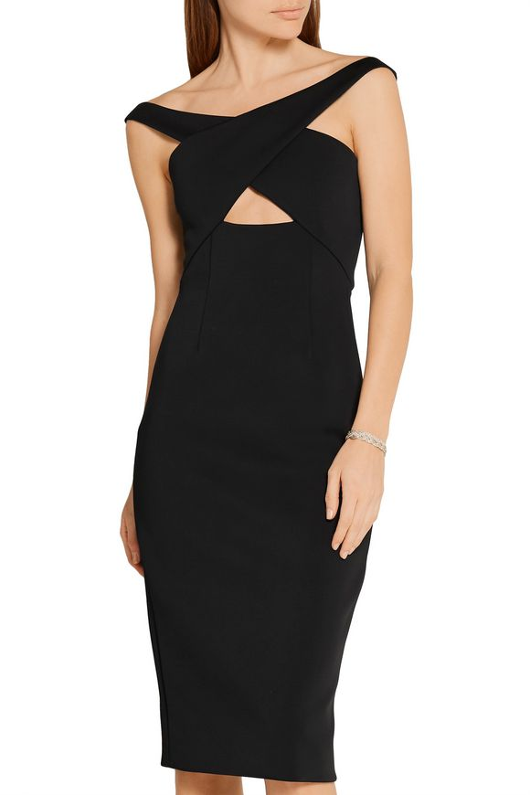 Off-the-shoulder cutout neoprene dress | CUSHNIE ET OCHS | Sale up to 70%  off | THE OUTNET
