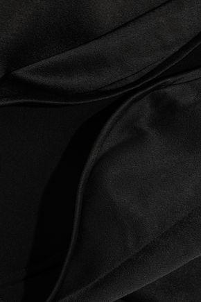 HALSTON HERITAGE Cutout satin gown