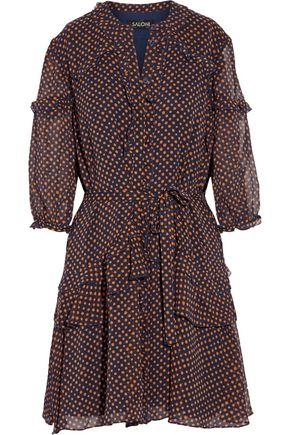 SALONI Tilly polka-dot silk-chiffon dress
