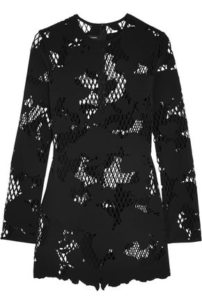 ANTHONY VACCARELLO Laser-cut scuba mini dress