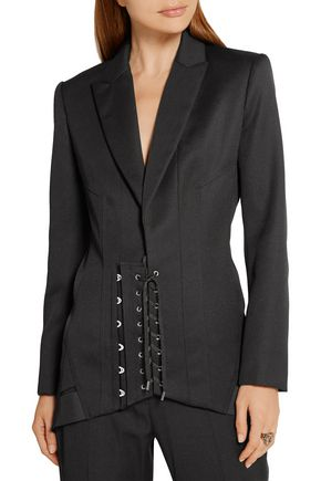 ANTHONY VACCARELLO Lace-up wool blazer