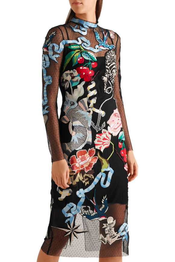 Sail embroidered embellished Swiss-dot tulle dress | TEMPERLEY LONDON | Sale  up to 70% off | THE OUTNET