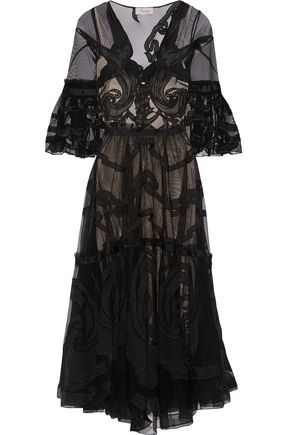TEMPERLEY LONDON Appliquéd tulle dress