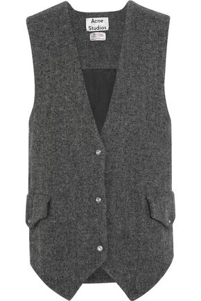 ACNE STUDIOS Oversized wool-tweed gilet