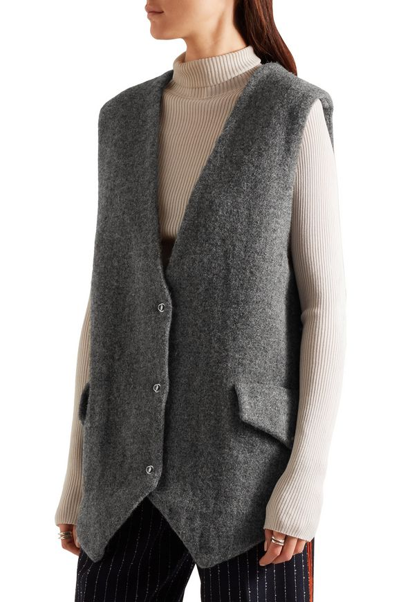 Oversized wool-tweed gilet | ACNE STUDIOS | Sale up to 70% off | THE OUTNET