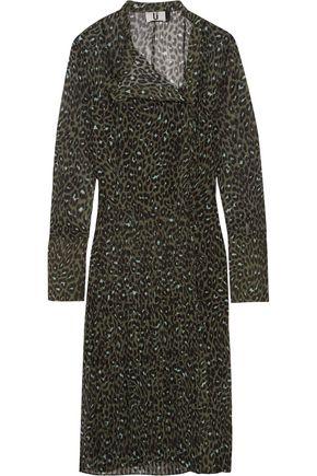 TOPSHOP UNIQUE Rosalind leopard-print silk-georgette dress