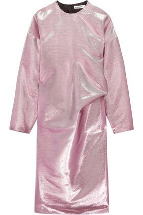 JIL SANDER Metallic cotton-blend dress