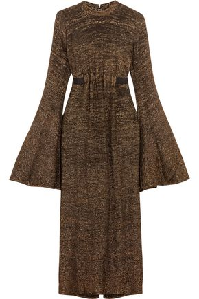 ELLERY Gasp metallic knitted midi dress