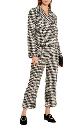 ERDEM Marsha metallic cotton-blend tweed jacket