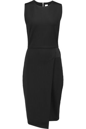 IRIS & INK Katia peplum stretch-ponte dress