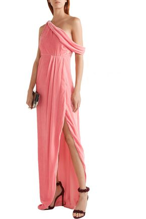 MONSE One-shoulder cutout velvet gown
