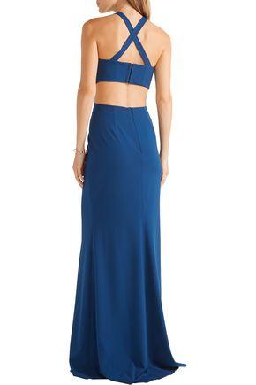MICHELLE MASON Cutout cady gown