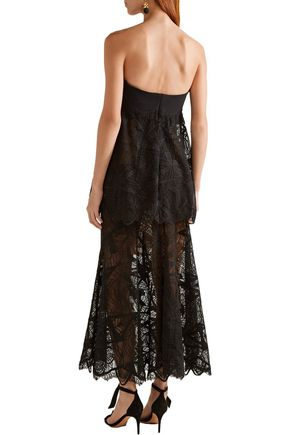 JONATHAN SIMKHAI Tiered lace midi dress