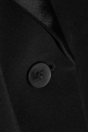 DKNY Satin-trimmed crepe blazer